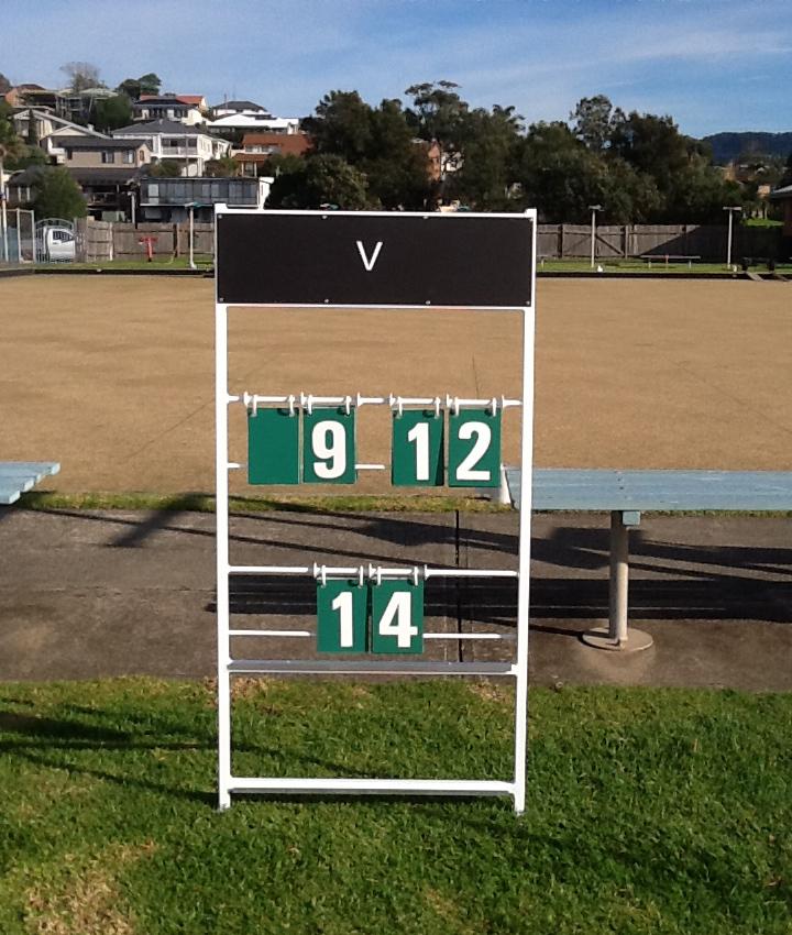 Lawn Bowls Scoreboard Numbers